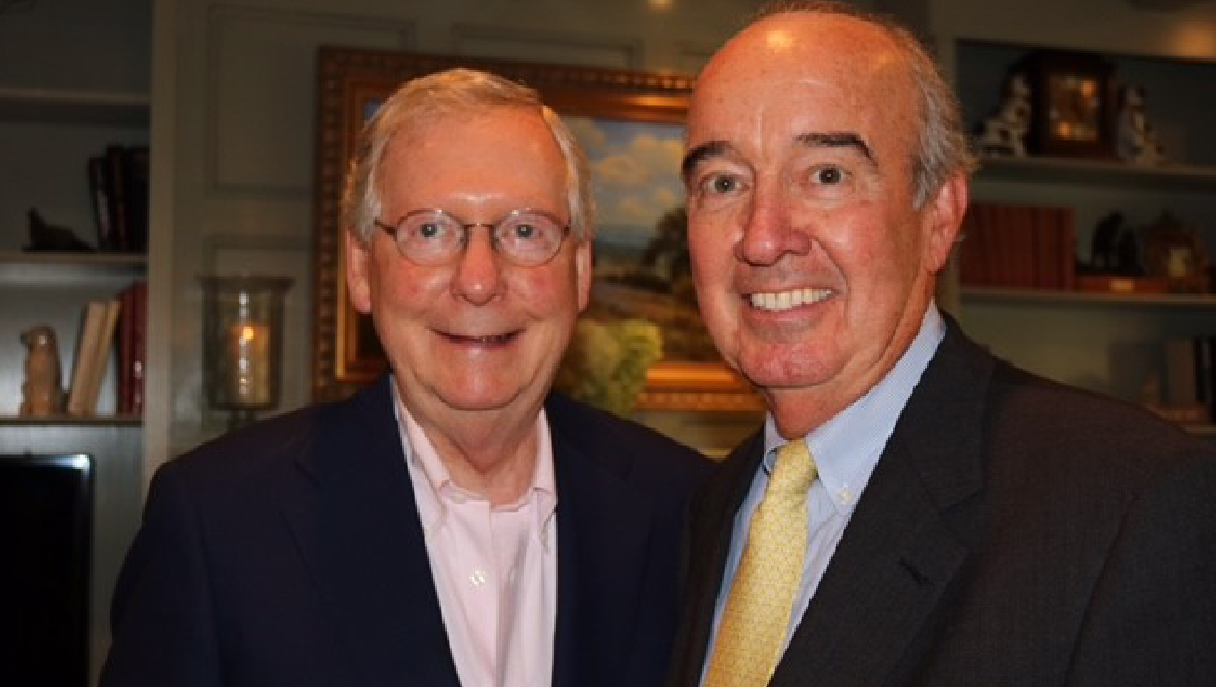 Mike Mountjoy, BiF Chairman, and US Senate Majority Leader Mitch McConnell of Kentucky